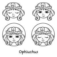 signo da astrologia ophiuchus. vetor
