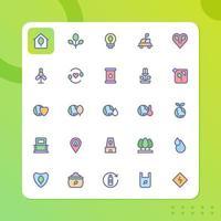 pacote de ícones do ambiente isolado no fundo branco. para o design do seu site, logotipo, aplicativo, interface do usuário. ilustração de gráficos vetoriais e curso editável. eps 10. vetor