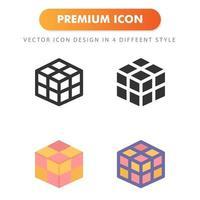 ícone de cubo mágico isolado no fundo branco. para o design do seu site, logotipo, aplicativo, interface do usuário. ilustração de gráficos vetoriais e curso editável. eps 10. vetor