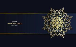 Fundo de mandala ornamental de luxo com padrão oriental islâmico árabe estilo premium vetor