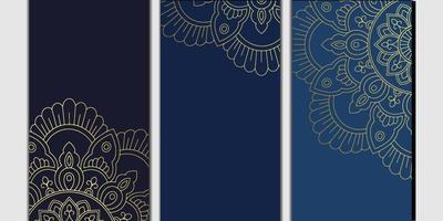 floral e mandala ornamentais quadro decorativo fundo luxo vetor premium