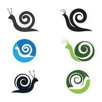 logotipo do caracol e imagem vetorial de símbolo vetor