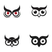 logotipo do ícone da coruja vetor