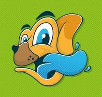 desenho de ilustração vetorial cão engraçado. estampa legal para camiseta vetor