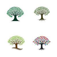 logo da árvore e vetor do símbolo