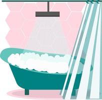 interior da casa de banho moderna vetor