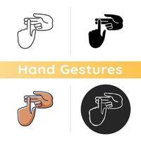 contando no ícone de dedos vetor