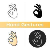 ok ícone de gesto vetor