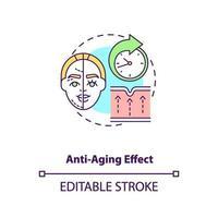ícone do conceito de efeito anti-envelhecimento vetor