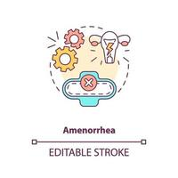 ícone do conceito de amenorréia vetor