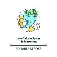 ícone do conceito de temperos e especiarias de baixa caloria vetor