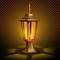 lanterna retro vintage estranha com uma vela.
