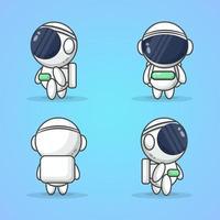 ilustração vetorial de astronautas fofos vetor