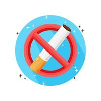 design de vetor de ícone proibido fumar