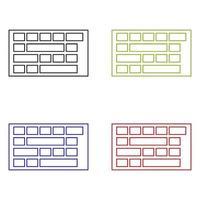 teclado de computador em fundo branco vetor