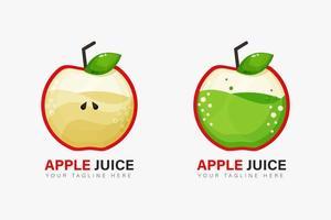 design de logotipo de suco de maçã vetor