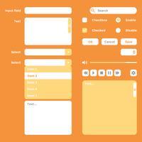 Vetor de elementos de interface do usuário Kit Wireframe