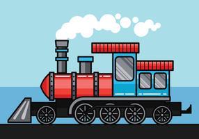 Ilustração vetorial locomotiva vetor