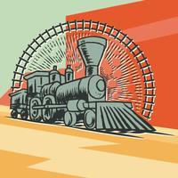 Locomotiva Vintage vetor