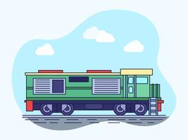 Vetores extraordinários de locomotivas