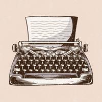 Ilustração de máquina de escrever vetor