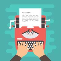 Ilustração vetorial de máquina de escrever vetor