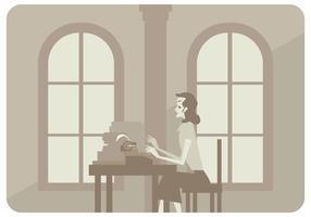 Vetor de mulher de escritório clássico