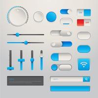 Conjunto de botão de elemento de wireframe para no moderno design realista vetor