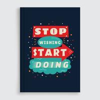 Vetor de capa de livro motivacional