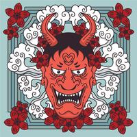 Arte de vetor de tatuagem japonesa