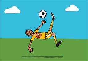 chute de bicicleta de futebol vetor