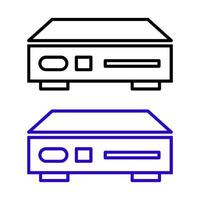 conjunto de reprodutor de DVD em fundo branco vetor