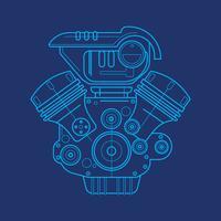 Cópia azul do motor de automóveis vetor