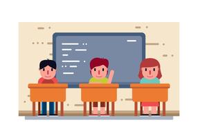 Sala de aula com vetor de crianças