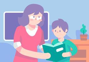 Leitura de sala de aula vetor
