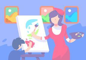Pintura de sala de aula vetor