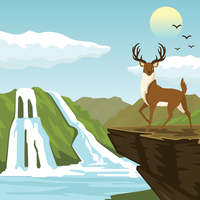 Ilustração do parque nacional vetor