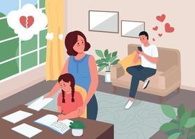 ilustração vetorial de cor plana infidelidade vetor