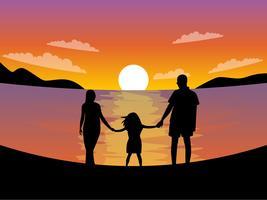 Vetores de férias com a família pendentes