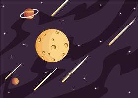Vetor de ilustração de lua spacescape