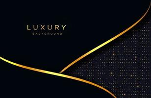 fundo elegante de luxo com composição de linhas de ouro. layout de apresentação de negócios vetor