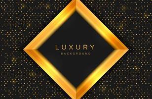 fundo elegante luxuoso com forma de ouro e composição de linha no padrão de meio-tom de pontos. modelo de capa elegante vetor