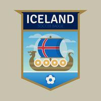 Emblemas do futebol da copa do mundo de Islândia