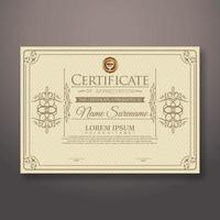 certificado de diploma de modelo de realização vetor