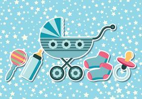 Fundos do chuveiro de bebê vetor