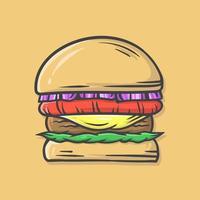 ilustração vetorial de hambúrguer vetor