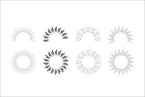 vetor de coleção do ícone do sunburst.
