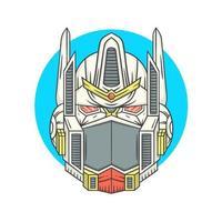 cabeça de ilustração vetorial de robô