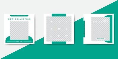 modelo de banner de postagem de mídia social de moda verde vetor