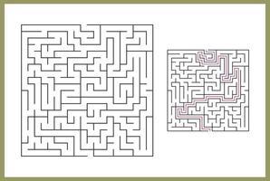 labirinto para crianças. labirinto quadrado abstrato. vetor